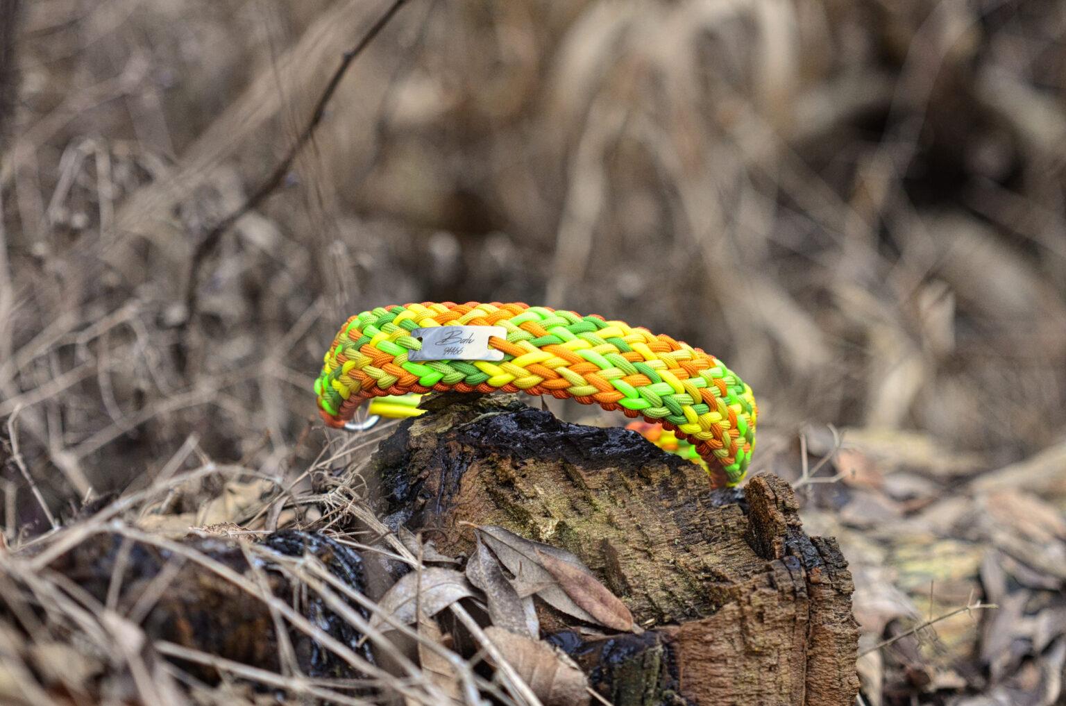 Das Grün, Gelb und Orange macht mit seinen lustigen Farben sofort gute Laune und strahlt mit dem Schäferhund Balu um die Wette.